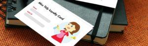 Miss Tidy Membership Card